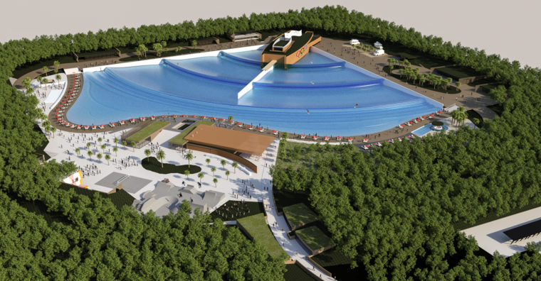 Illustration de l'article Équipement – Castets : La piscine à vagues se précise