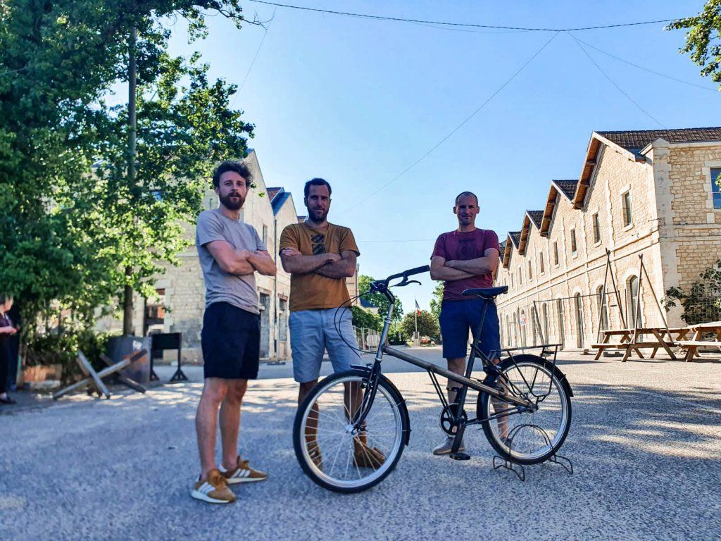 Maël Le Borgne, Benoît Maurin et Mathieu Courtois Bordeaux Vélos Jean Fourche