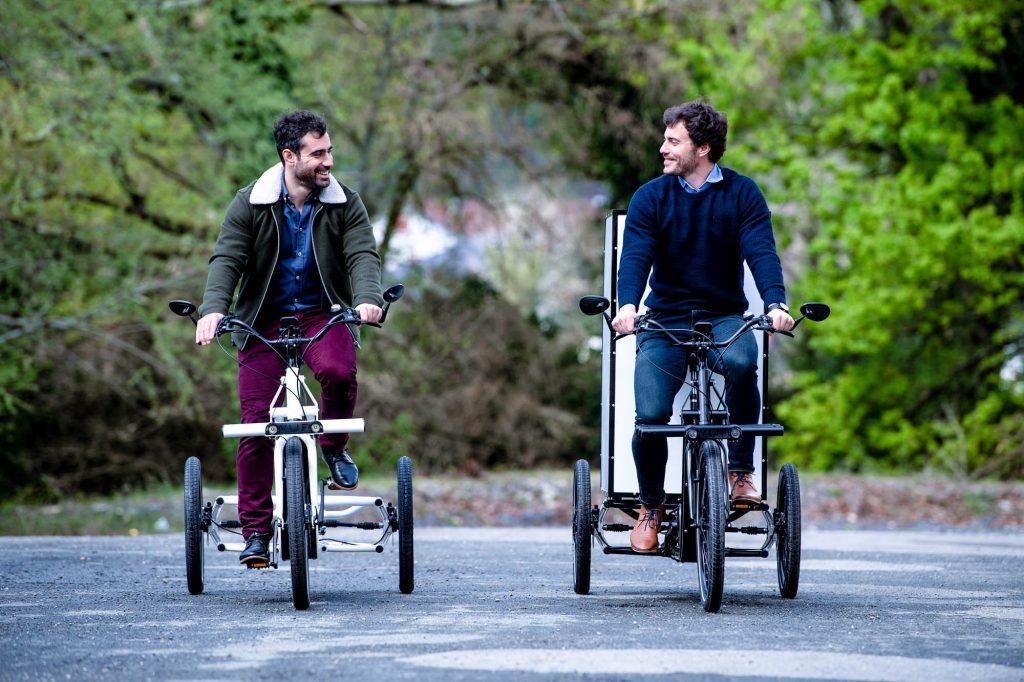 Anthony et Thomas Chenut, créateurs des vélos cargos VUF Bike